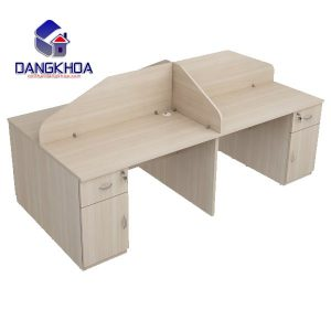 Module bàn làm việc có hộc 4 chỗ ngồi
