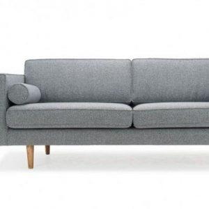 Sofa văng bọc nỉ màu xám